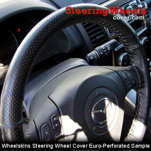 Custom Fit Leather Steering Wheel Cover Wheelskins Perforated 14 1//2 X 4 3//8