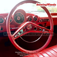 1960 Chervolet Biscayne Steering Wheel Cover One Color Read Custom-Size