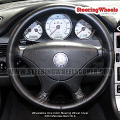2004 Mercedes Benz SLK Steering Wheel Cover One Color Black