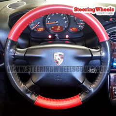 2001 Porsche Boxster Wheelskins Steering Wheel Cover Euro-Perforated