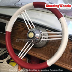 Custom-Size Wheelskins Steering Wheel Cover