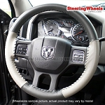 Dodge 2015 Ram Truck Wheelskins Steering Wheel Cover (Euro-Tone, Size 15 1/2 x 4 1/2)