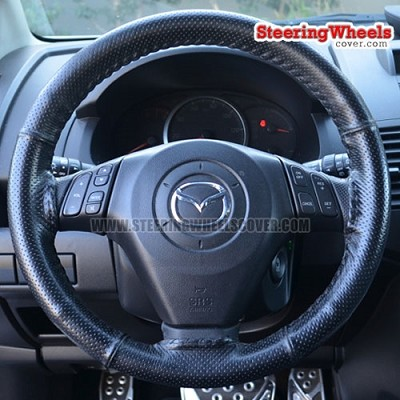 Mazda 2007 Mazda-5 Wheelskins Steering Wheel Cover (Euro-Perforated, Size 14 1/2 x 4)