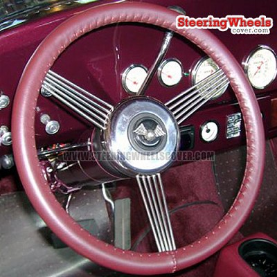 Wheelskins Original One Color Steering Wheel Cover (Custom Size Special Order, Up to 17.9 Inch Outside Diameter)