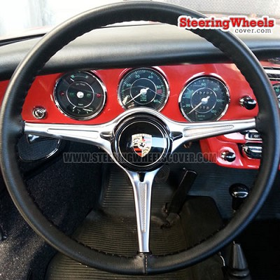 Wheelskins Euro Perforated Steering Wheel Cover (Custom Size Special Order, Up to 17.9 Inch Outside Diameter)