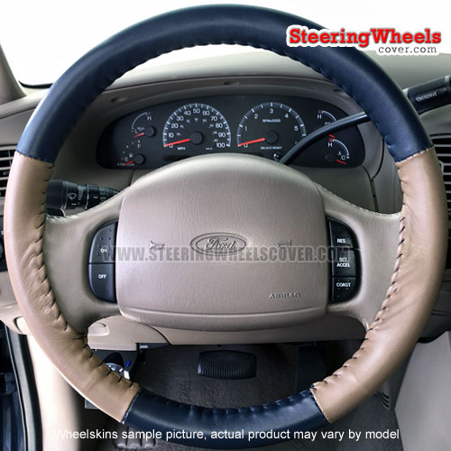 Ford 1998 F150 Wheelskins Steering Wheel Cover (Euro-Tone, Size 15 1/2 x 3 3/4)
