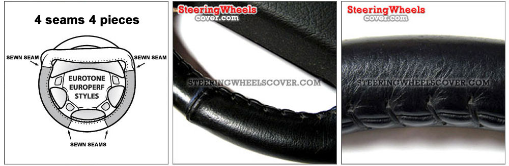 Wheelskins Steering Wheel Cover Euro-Tone 2 Color